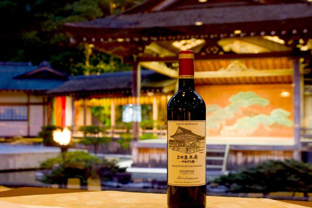 三田屋本店オリジナルワインと能舞台