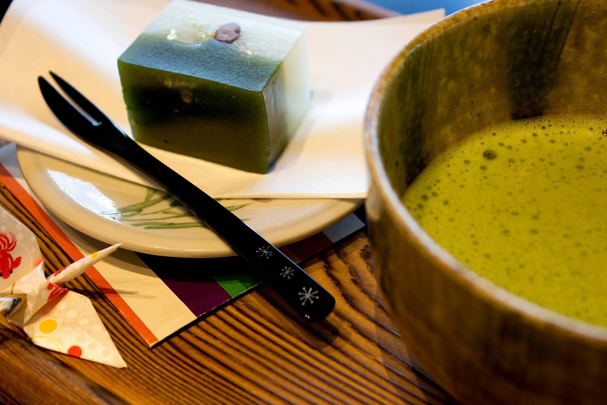 抹茶と羊羹「松風」